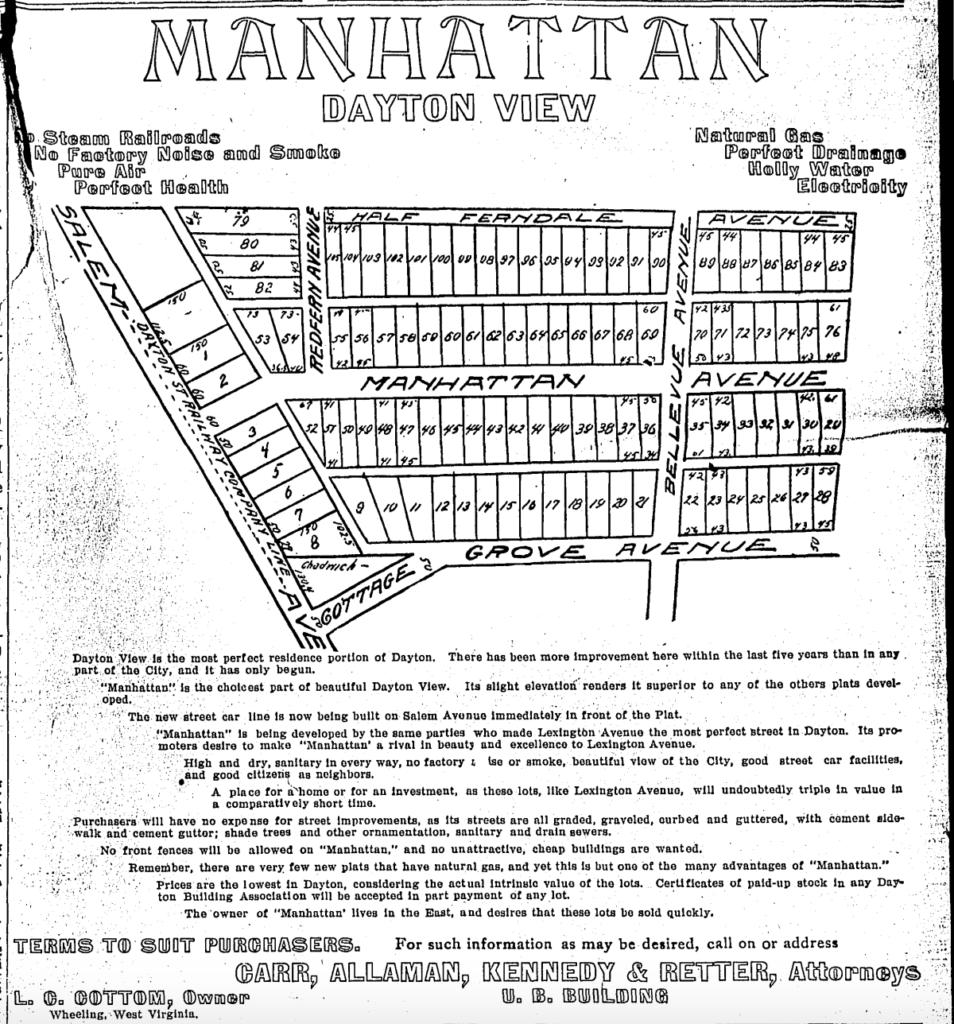 Dayton View As Early Dayton Suburb (Newspaper Ads